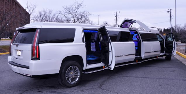 View 2020 Cadillac Escalade Limo Interior